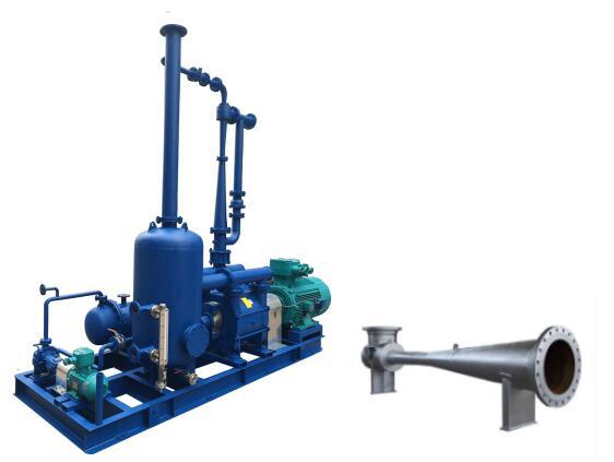喷射真空泵通常和液环泵配合使用,使原油蒸馏塔保持真空